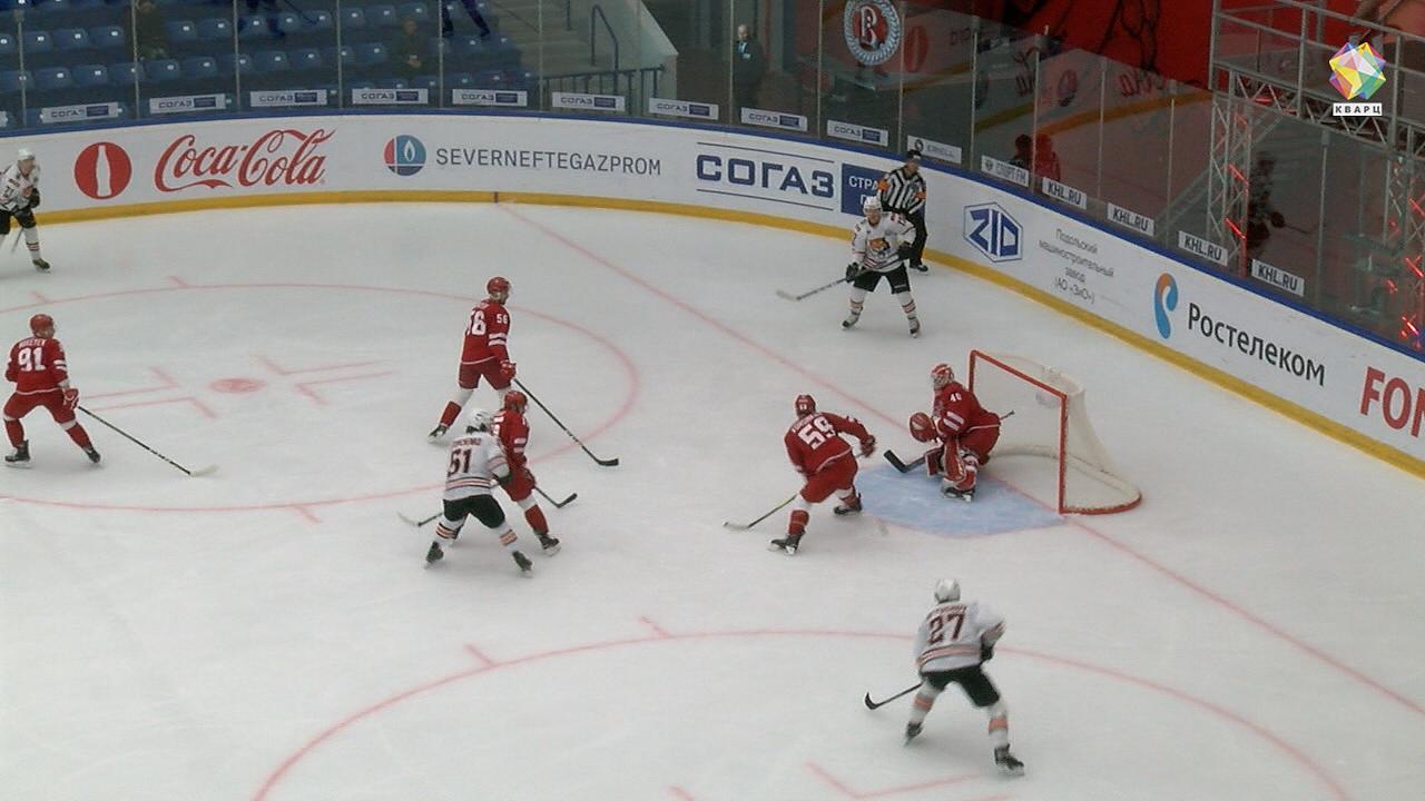 Хоккеисты «Амура» победили вовертайме «Витязь» вматче стабильного чемпионата КХЛ
